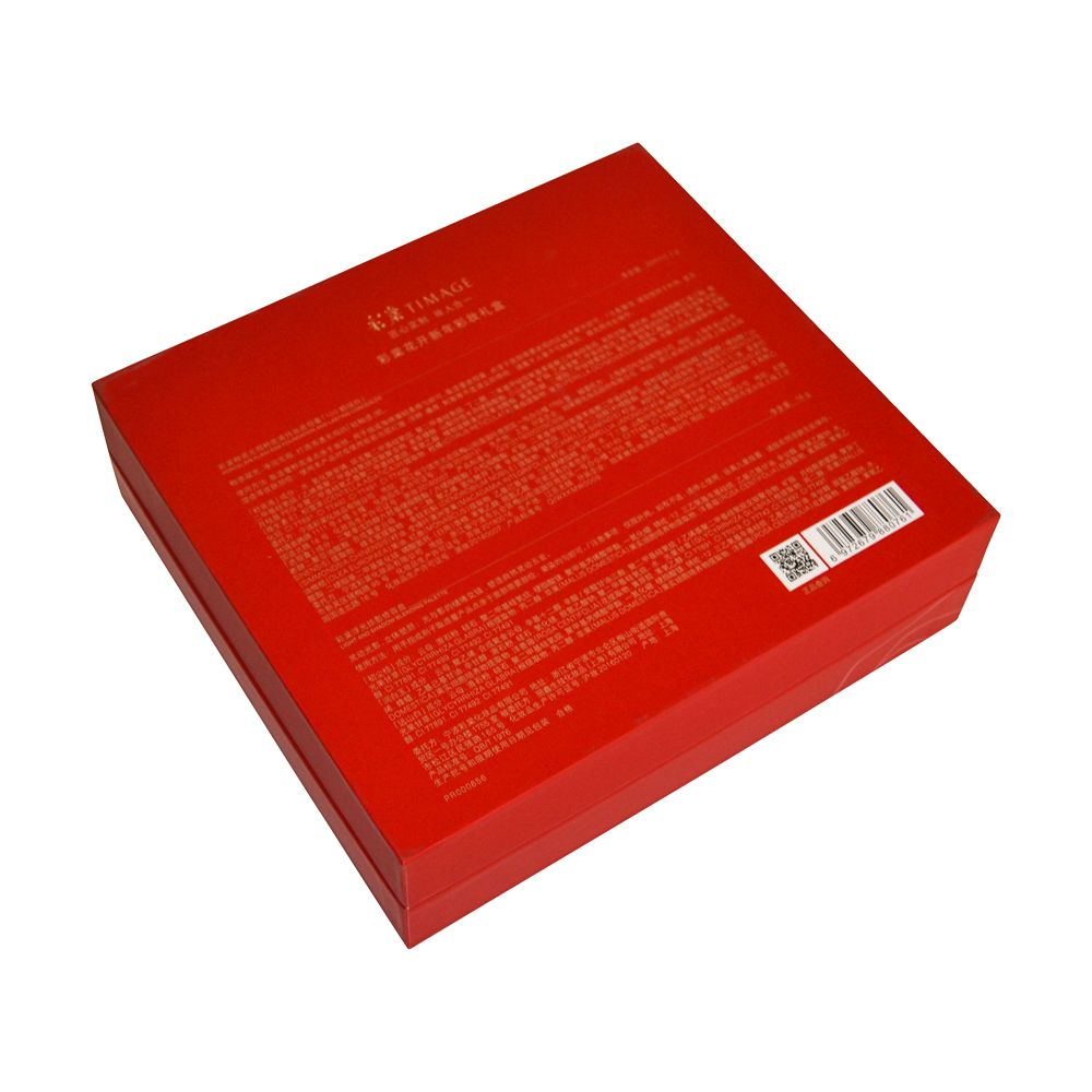 Luxury Red Matt Lamination Gold Stamping Spot UV Cosmetics Rigid Packaging Boxes with Insert