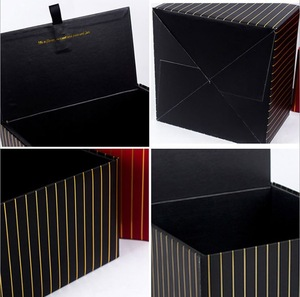 Customized Easy Assembly Floding Square Flowers Box in Packaging