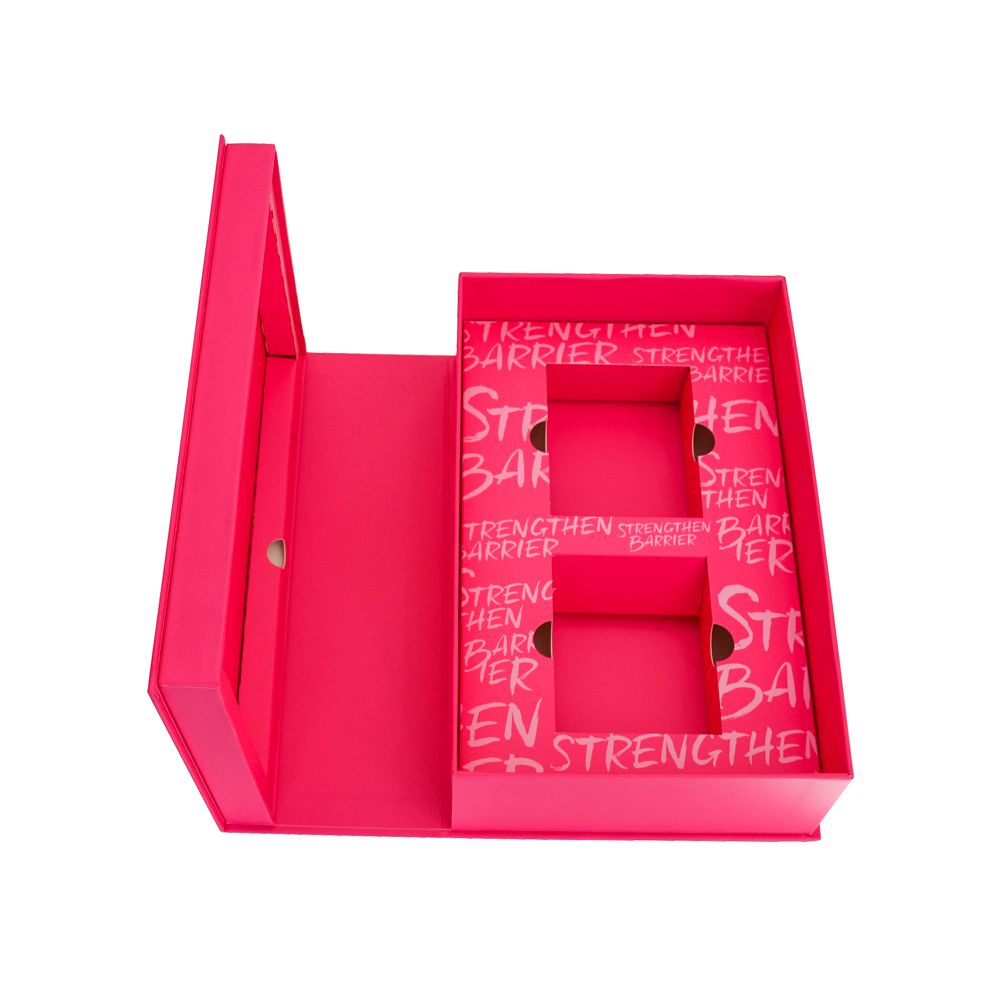 Book Design Gold Stamping Makeup Rigid Boxes with Inserts