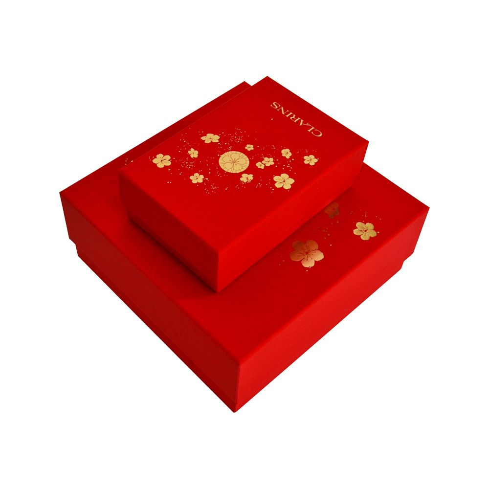 Red Color Gold Stamping Rigid Paper Packaging Gift Box China Supplier