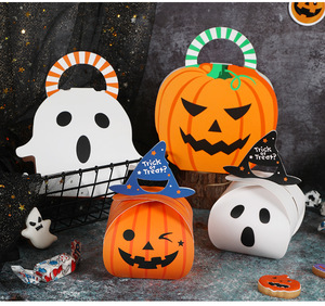 Wholesale Cookies Sweet Bonbon Trick or Treat Packaging Paper Box Halloween Candy Container