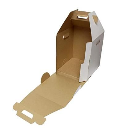 Single Cupcake Carrier Boxes with Window Inserts Handle