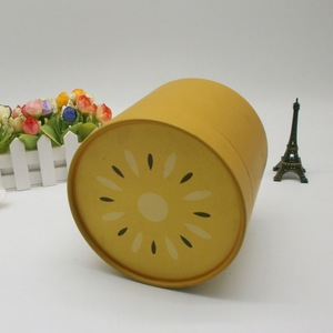 Promotional Small Round Cylinder Gift Paper Rigid Cardboard Box Packaging for Candle tea and coffee