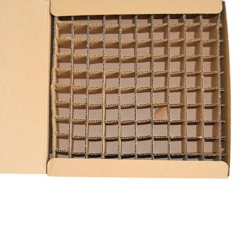 Cardbard Kraft Paper Folding Boxes with Grid Inner Tray