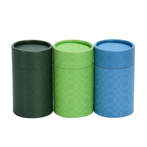 Supplier Cylinder Paper Packaging Box with Lid for Coffee Bean Storage and Tea
