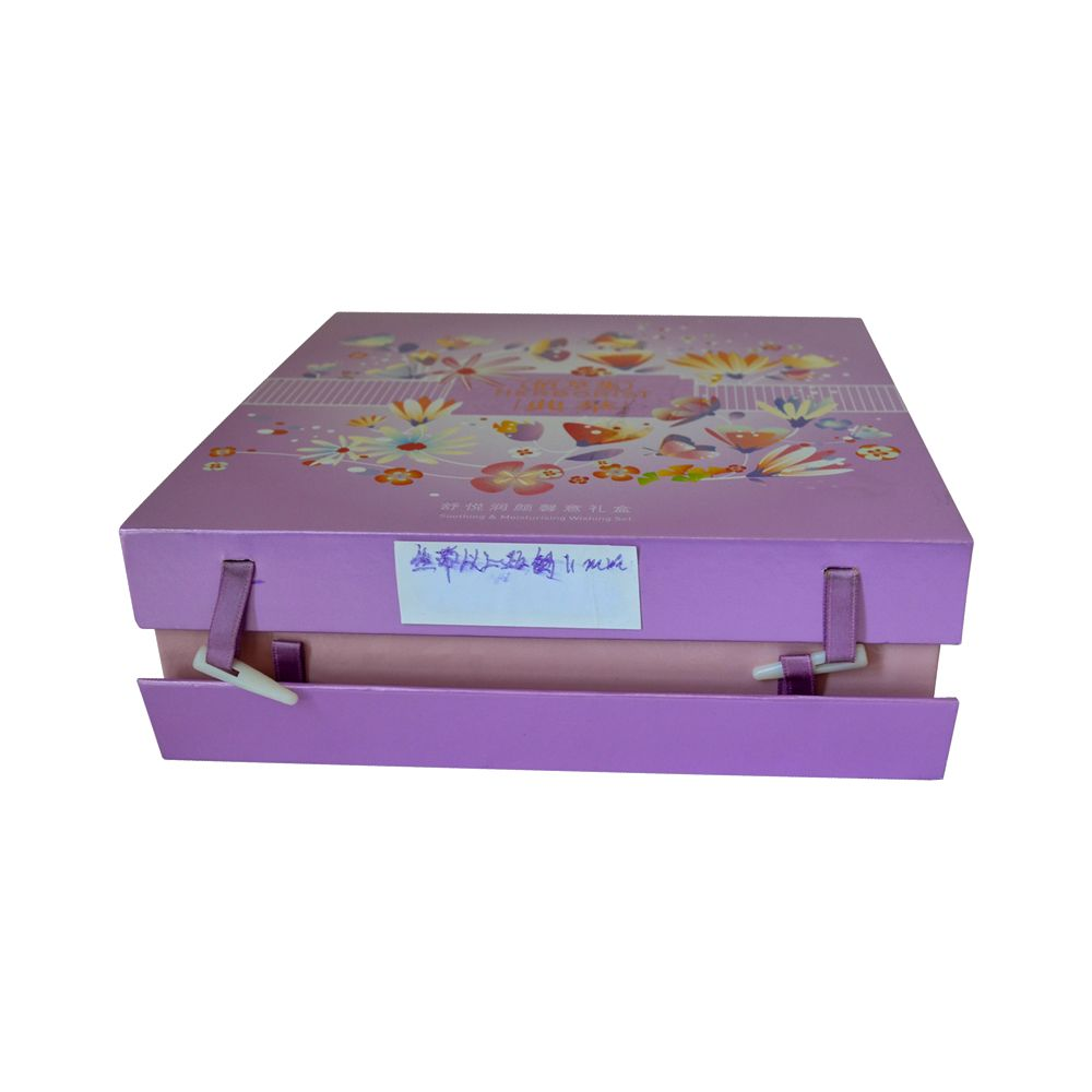 Clamshell Book Style Cosmetics Paper Rigid Box with Inert