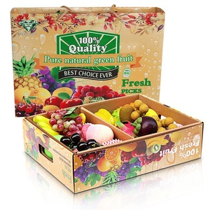 Corrugated Folding Boxes for Fresh Fruit and Vegetable with Window China Wholesale