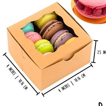 Brown Bakery Boxes with Window