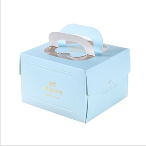 Printing Kraft Paper Collapsible Cake Carrier Boxes China Supplier