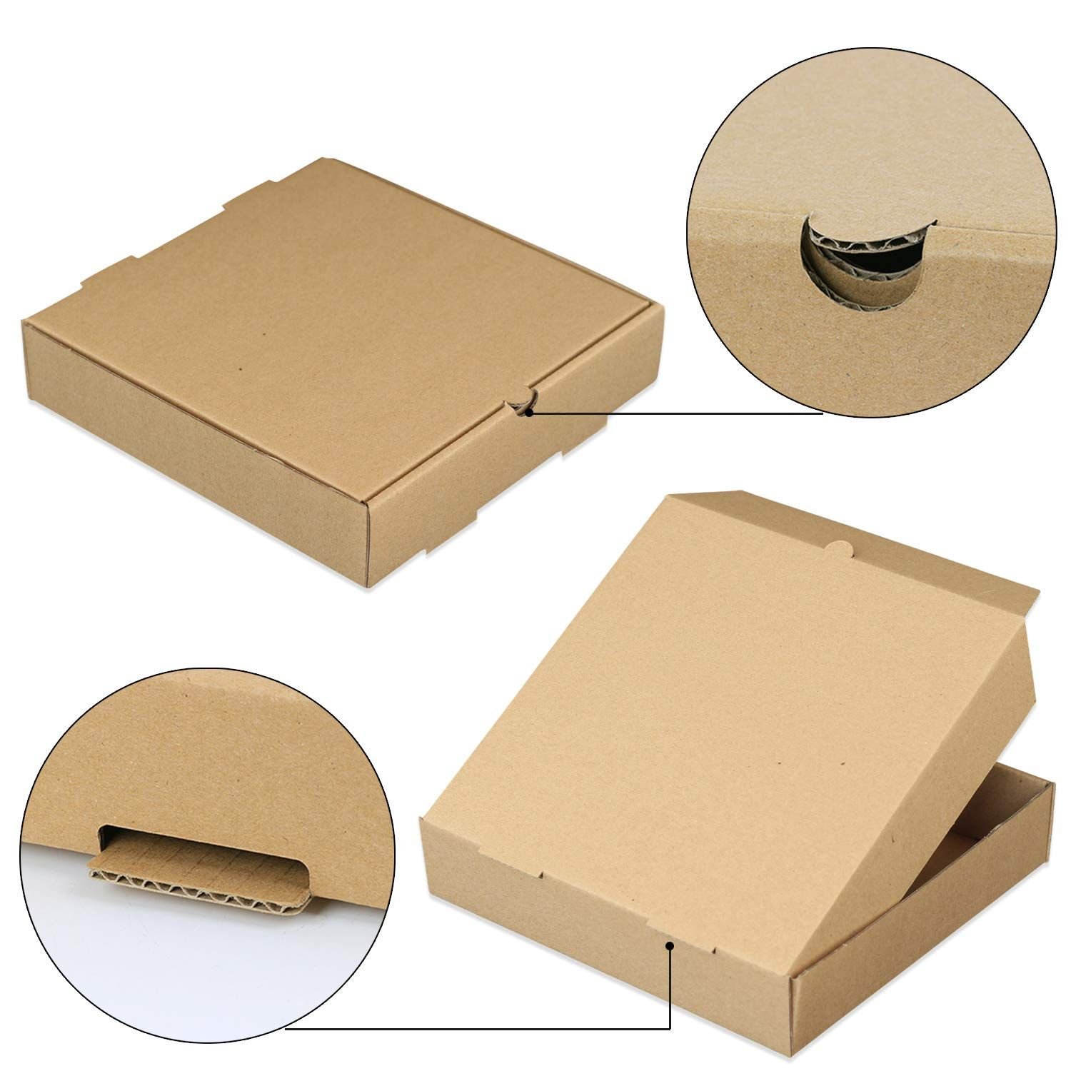 Take Away Paperboard Folding Pizza Boxes All Sizes Wholesale