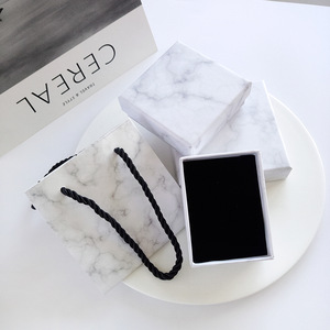 Wholesale Custom Marble Print Wedding Ring Bracelet Necklace Jewelry Lid Box for Gifts