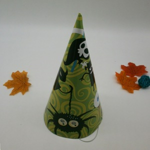 Funny Design Paper Party Hat for Halloween Printing Service Supplier
