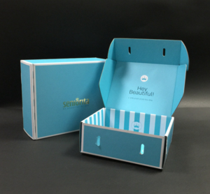 Wholesale Corrugated Paper Airplane Apparel Folding Packaging Box