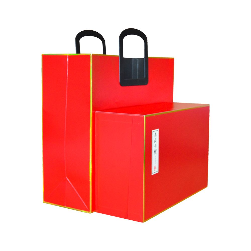 Luxury Gold Foil Inner Tray Inserts Food Book Packaging Boxes With Paper Handle Bag