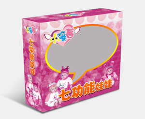 Exquisite Custom Design Barbie Dolls Toy Corrugated Paper Packaging Boxes with Clear window