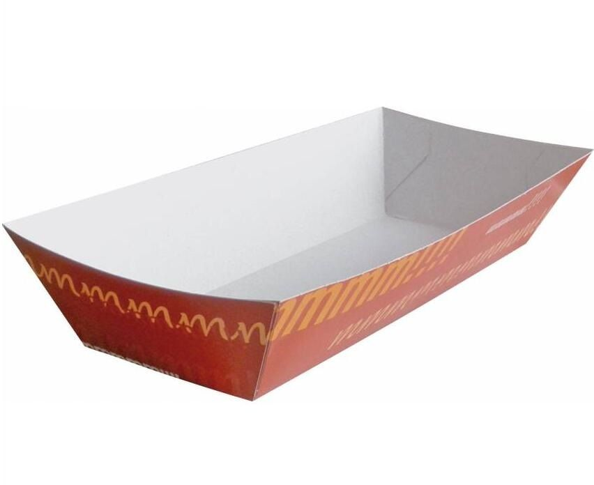 Disposable Brown Kraft Paper Food Boat Tray