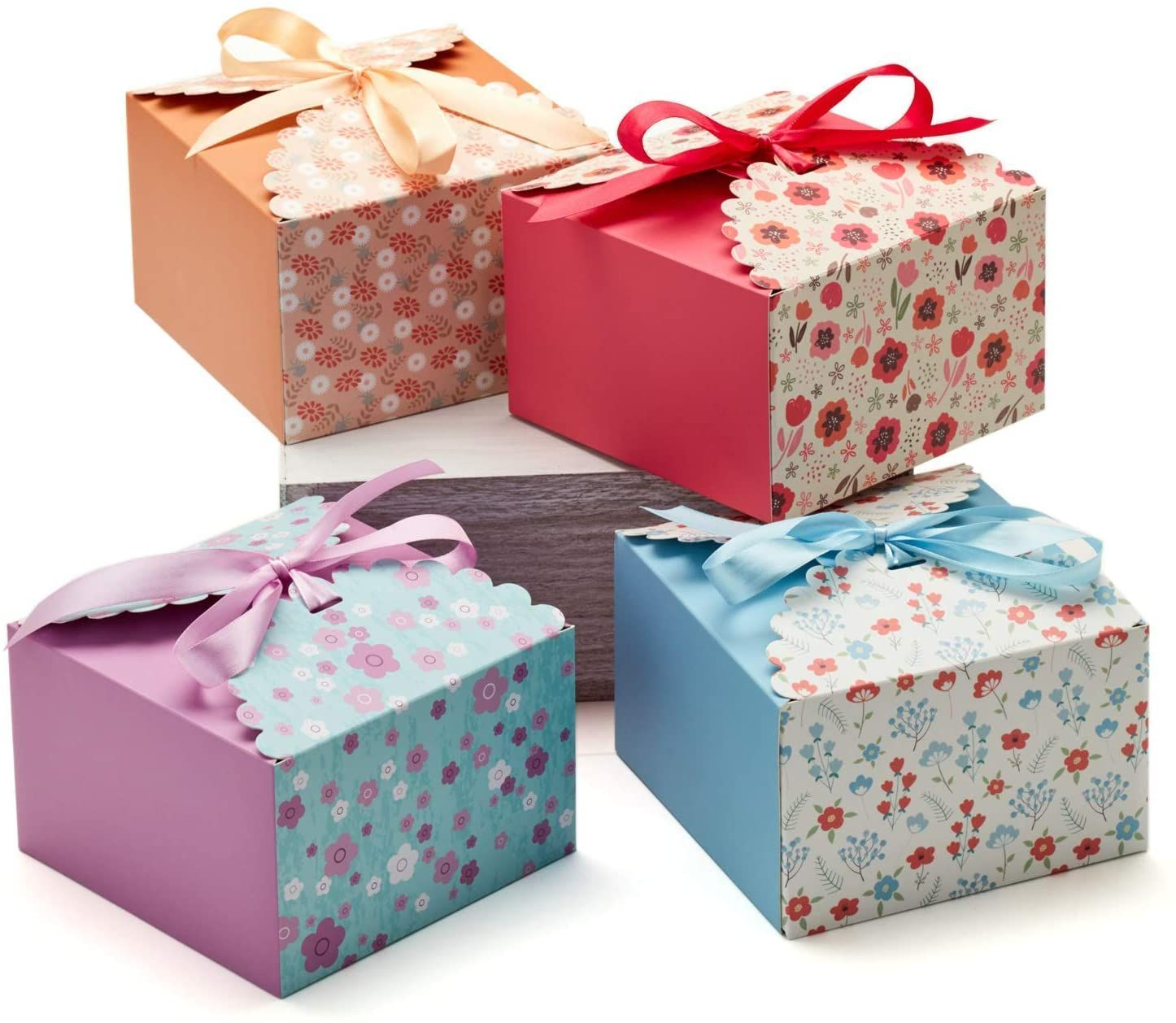 Kraft Paper Luxury Holiday Gift Packaging Box with Ribbon