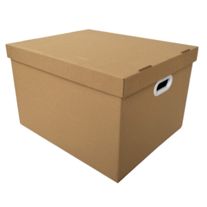 Corrugated Cardboard Storage Packaging Boxes for Moving Easy Carry Handles Tool Files Bankers Kit