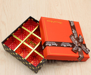 Wholesale Fancy Colorful Chocolate Candy Packaging Box for Gifts