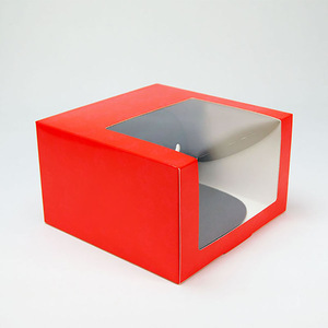 White Cardboard Paper Baseball Cap Packaging Box with Clear Window