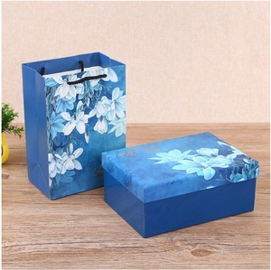 Paperboard Recyclable Cosmetic Box Packaging with Shopping Bag