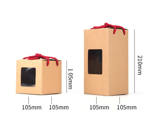 Wholesale Kraft Paper Box With Window and Rope Handle