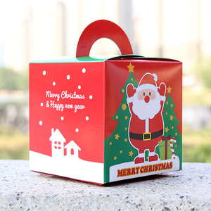Santa Claus Pattern Biscuit Cookie Box Candy Box Packaging for Christmas
