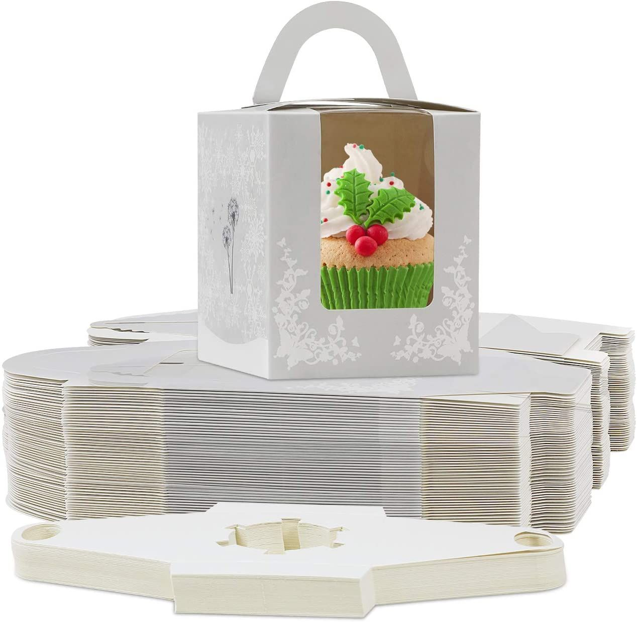 Art Paper folding packaging Box with Handle for Christmas Holiday