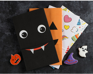 Wholesale Food Bread Candy Cookie Chips Pumpkin Take Away Packaging Paper Bags for Halloween