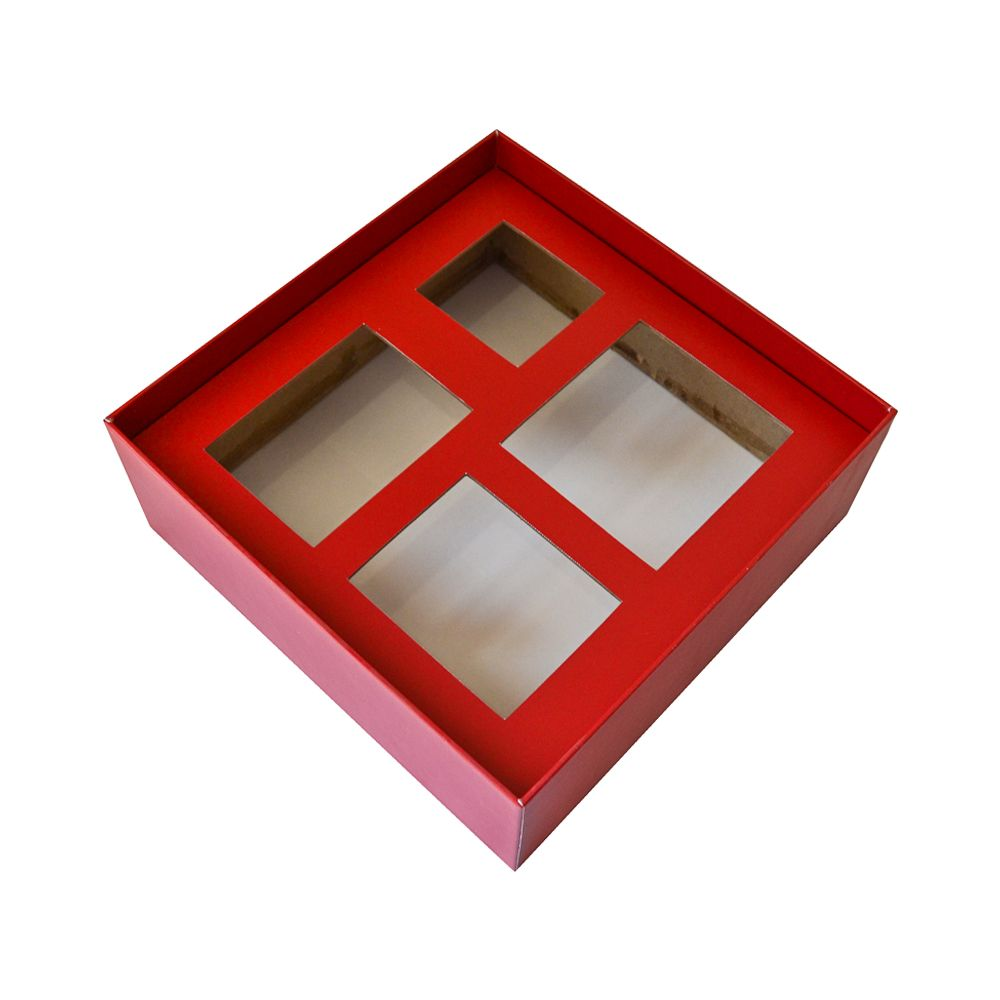 Paper Cosmetics Packaging Box with Paper Insert Storage Grid