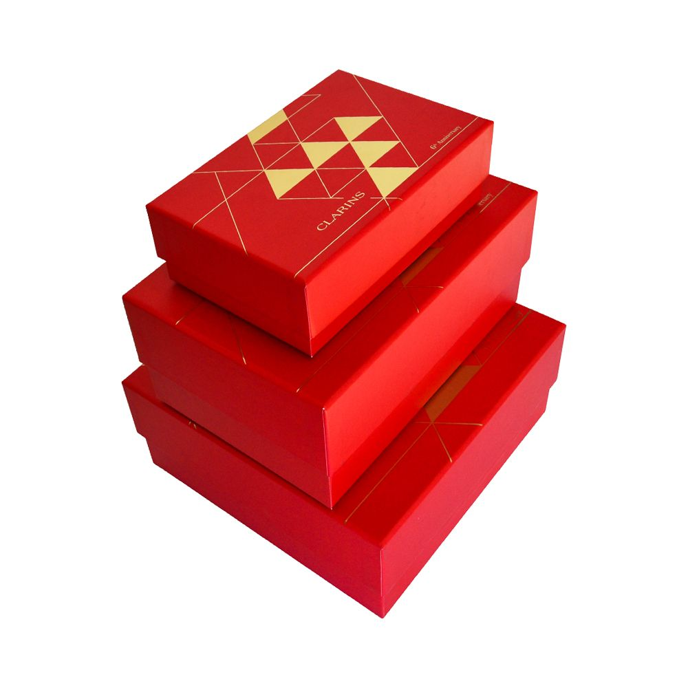 Gold Hot Stamping Hardboard Paper Rigid Apparel Boxes