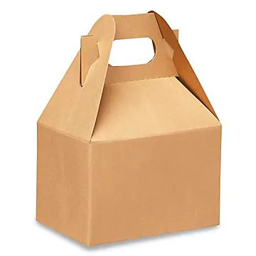Kraft Paper Folding Food Packaging Box with Handle Wholesale China