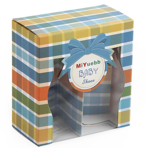 Custom Cute Folding Baby Shoe Box With Clear Window For kids Wholesale