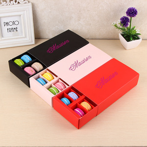 Supplier Rectangle Foldable Drawer Paper Divider Inserts 12 Macarons  Laduree Packaging Boxes