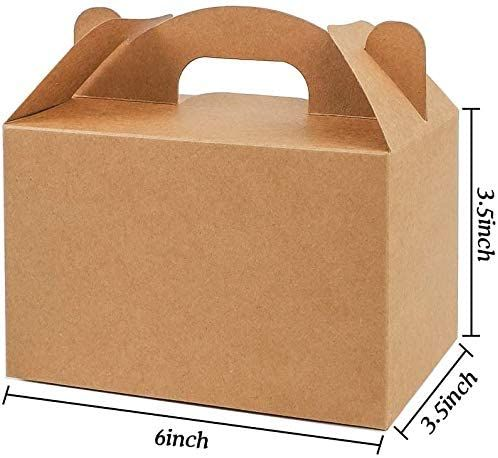 Brown Recycle Kraft Paper Gable Gift Boxes Candy Treat Boxes