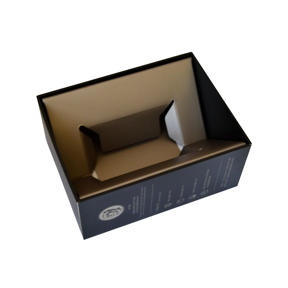Cardboard Paper Rigid Packaging Box with Paper Inner Tray