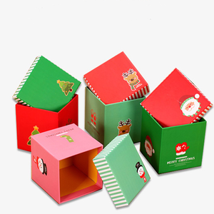 Small Christmas Tree Cardboard Gift Boxes with Lids for Children