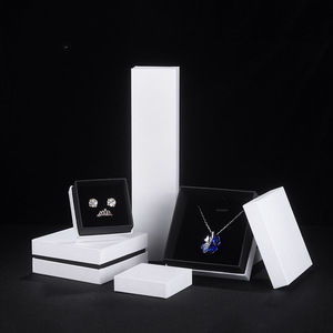Rigid Cardboard Paper Ring and Necklace Jewelry Packaging Boxes Manufacturer