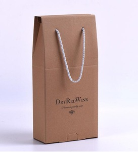 Cardboard Folding Wine Boxes with Window Two Bottle Manufacturer