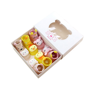 Lovely Baby Kids Paper Gift Box for Socks and Shoes with Window