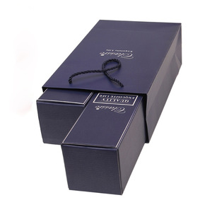 Color Printing Paper Wine Gift Box with Bag Wholesale