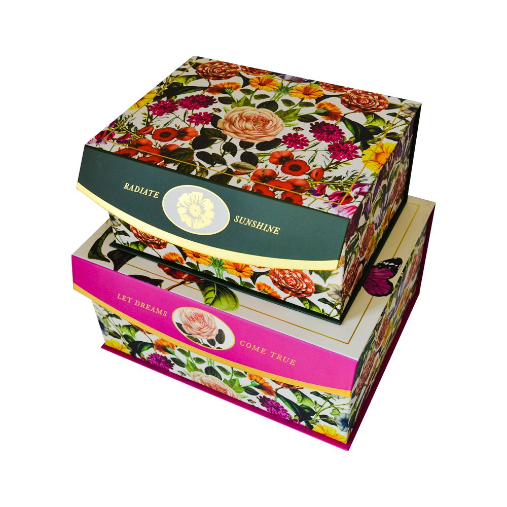Color Printing Magnet Paper Clamshell Book Packaging Boxes