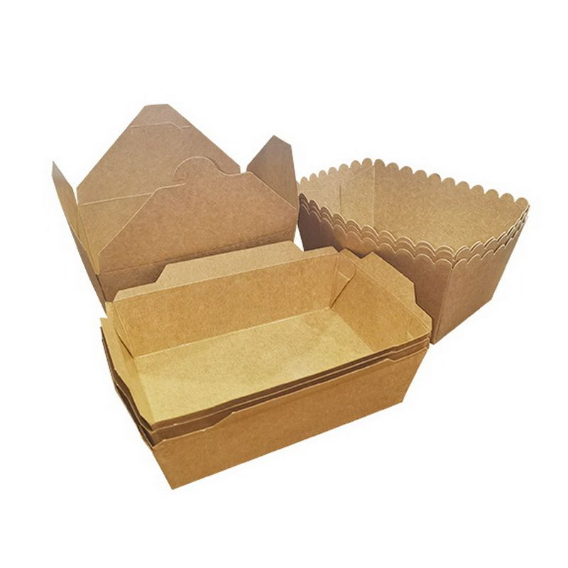 Food Grade Kraft Boat Tray For Sushi and Fast Food Packaging