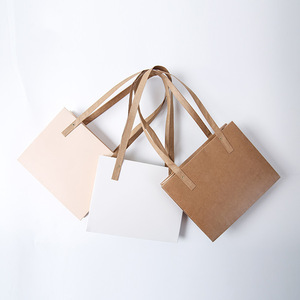 Portable Kraft Paper Floral Packaging Gift Box with Handle Manufacturer
