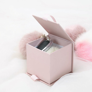 Customize Square Keychain Makeup Brush Perfume gift Storage Packaging Candle Wedding favor Boxes For Guests