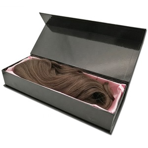 Customize Logo and Size Cardboard Box Wig Storage Box Hair Extension Packaging Box