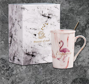 Coffee cup gift box tea cup gift box marble ceramic handicrafts packaging paper box
