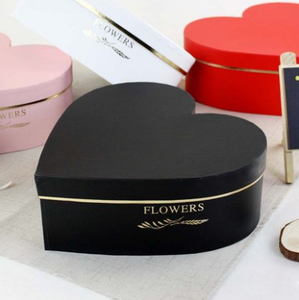Wholesale decorative heart shaped flower gift box packaging