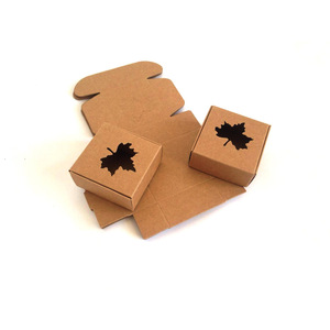 Professional New Design Cup Soap Small Brown Kraft Paper Mailer Box with Window