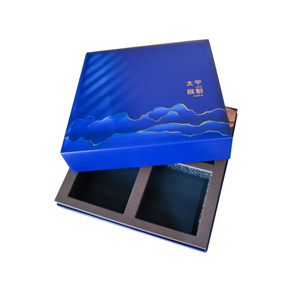UV and Gold Stamping Lid and Tray Food Packaging Boxes wtih Foam Inner Tray